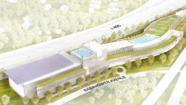 The St. James Group wants to construct this sports complex on land owned by the city of Alexandria.