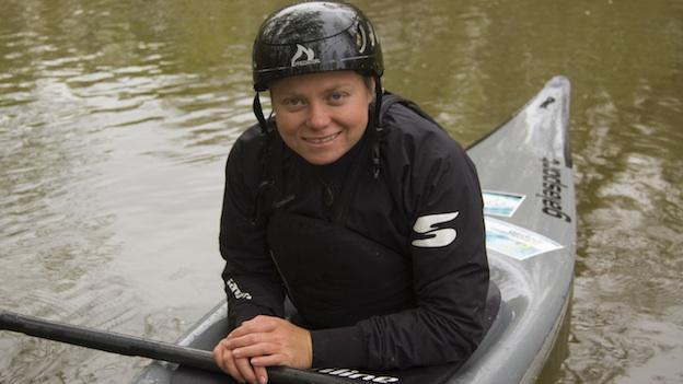 Maryland native Ashley Nee is one of the top two women slalom kayakers in the country.