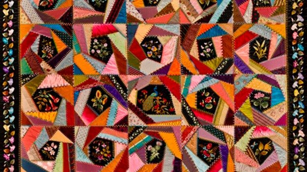 Mary A. Stinson's 19th-century work, Crazy Quilt, is one of the pieces temporarily visiting D.C., courtesy of New York's Brooklyn Museum.