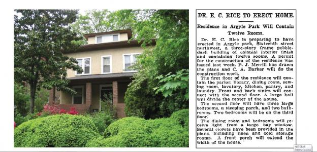One of oldest homes in Crestwood, accompanied by a Washington Post article about its pending construction.