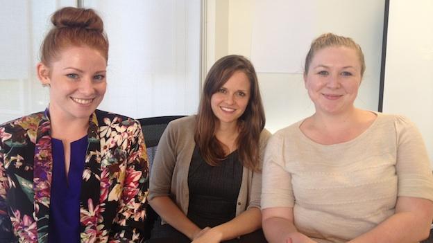 Sydney Moreau, Teresa Biagioni and Kari Brandt of the Critical Response Team.