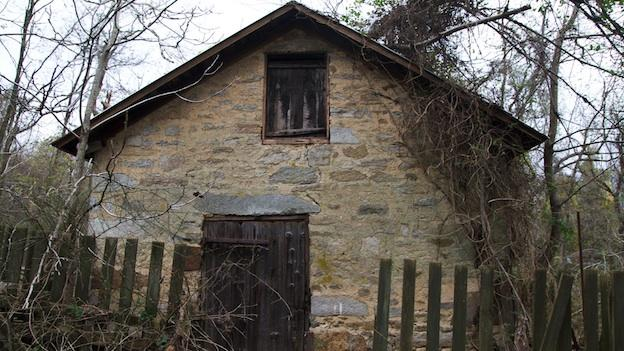 An old out building at the Stephenson House in Susquehanna State Park.