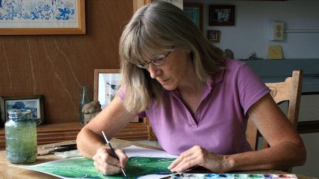 Mary Belcher at work in her Kalorama Triangle studio.