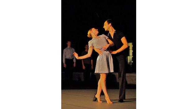 Dana Tai Soon Burgess Dance Company members Sarah Halzack and Kelly Moss Southall rehearse a dance inspired by the past.