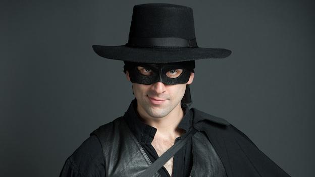 Danny Gavigan plays the title role in Zorro, Constellation Theatre Company's world-premiere play.
