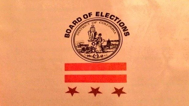The D.C. Board of Elections sent more than 300,000 D.C. households a voter guide with an upside down D.C. flag on the cover.