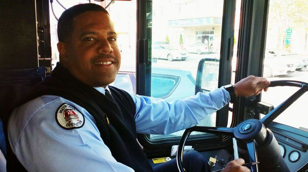 Derrick Perry uses his position as a Metro bus driver to try and brighten the days of those who cross his path.