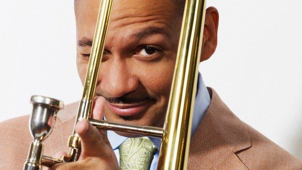 Jazz trombonist Delfeayo Marsalis will play alongside his father, pianist Ellis Marsalis, Jr. in a concert this weekend.