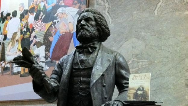 The statue of abolitionist Frederick Douglass was moved from a D.C. government building to the U.S. Capitol.