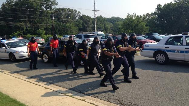 Some 200 police and fire and EMS officers took part in a mass-shooter drill today in Prince George's County.