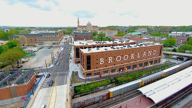 Brookland, in Northeast D.C., as seen from a drone.