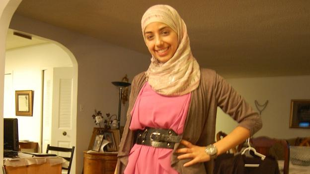 Hadil Alyamani shows her fashion sensibility at her home in Falls Church, VA.
