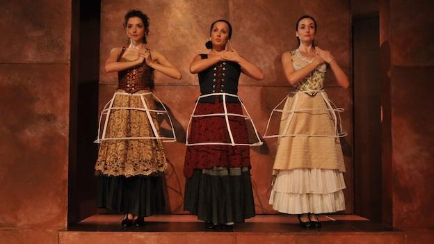 Natalia Miranda-Guzmán, Menchu Esteban, Carmen Cabrera (left to right).