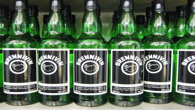 "Brennivin, a.k.a. ""Black Death,"" is a potent schnapps produced in Iceland."
