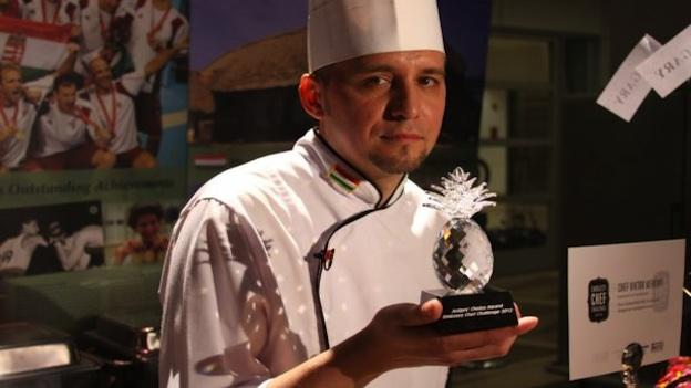 The Embassy of Hungary's Chef Viktor Merényi took top honors at the 2012 Embassy Chef Challenge.