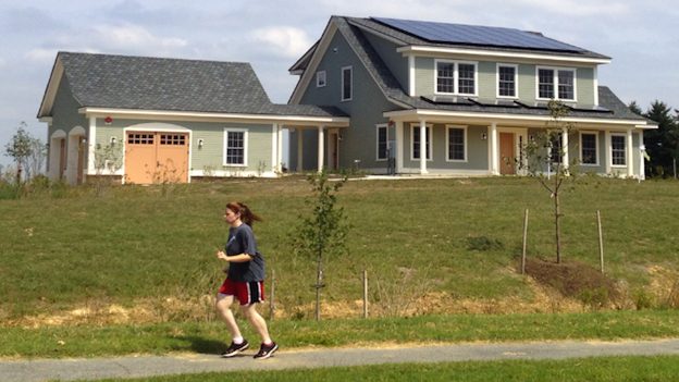 The National Institute of Standards and Technology is testing energy efficiency in the model home that's pictured.