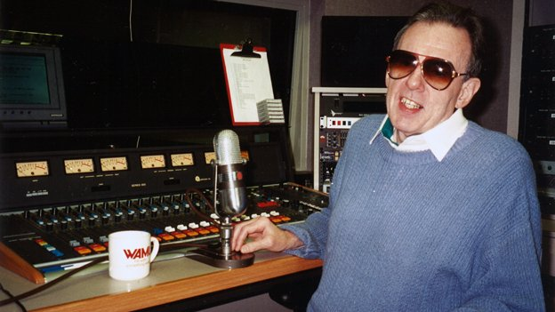 Ed Walker in the WAMU 88.5 studio in 1994.