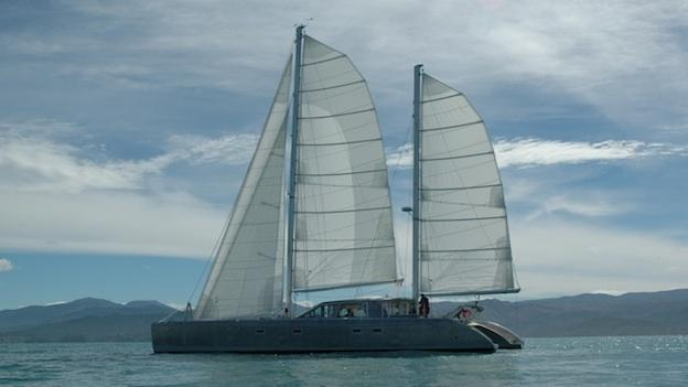 The Johnson family of Oxford, Md. are in the middle of a year-long sailing expedition around the world in their 62-foot catamaran, named Elcie.