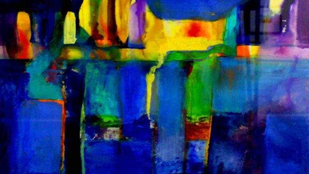 """Harbor Lights"" by Elise Ritter is just one of the pieces featured in Illuminations."
