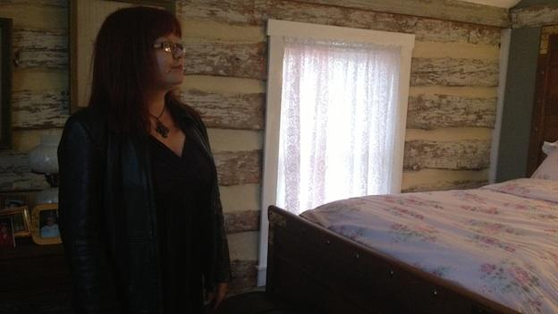 """Intuitive adviser Elizabeth LeBlanc says the main spirit she senses in the cabin is a """"cantankerous man"""" who doesn't like all the changes the cabin has experienced through the years."""