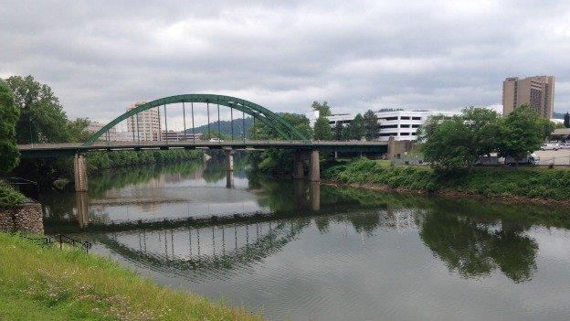 The Elk River in Charleston, West Virginia.