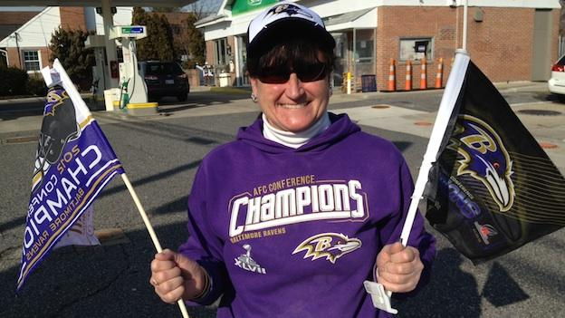 "Baltimore resident Erin Hata says the Ravens going to the Super Bowl is the ""sweetest dream ever."""