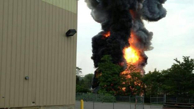 A dump truck caused Tuesday's CSX derailment outside of Baltimore, causing large explosions and a plume of smoke that could be seen from a mile away.