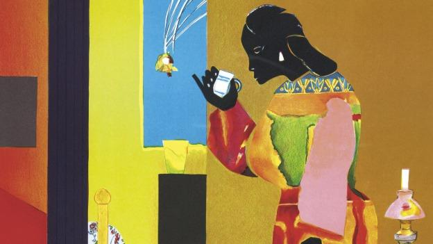 """Falling Star"" (1979) by Romare Bearden is just one of the works featured in a current exhibit at the Reginald. F Lewis of Maryland African American History & Culture."