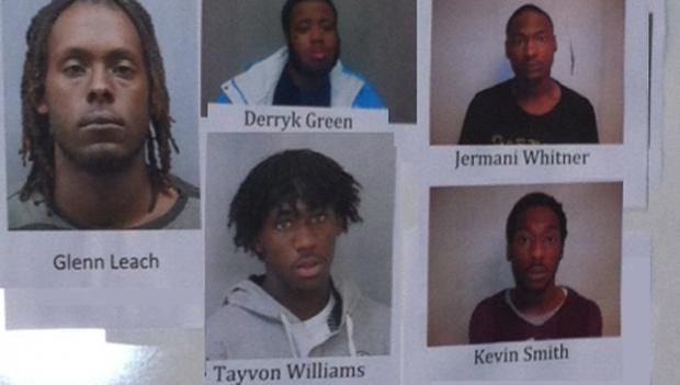 Five suspects charged in connection with the murder of Charles Walker Jr.
