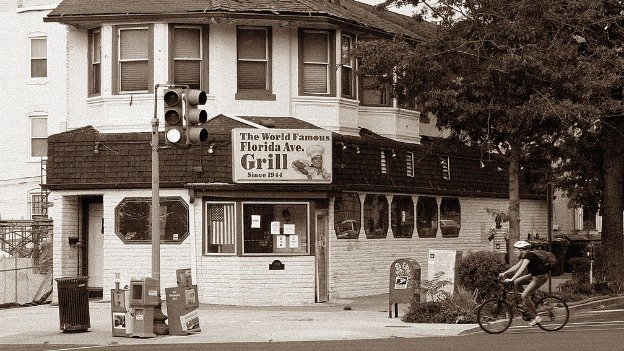 The Florida Avenue Grill is located at 11th Street and Florida Avenue NW.