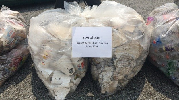 Environmental advocates say that Styrofoam containers used by carry-outs and food trucks end up in the Anacostia River, where they break down and pose a threat to fish and humans.