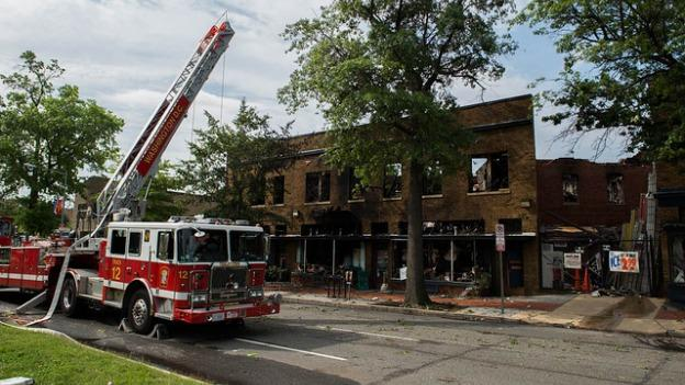 Frager's was largely destroyed by Wednesday's fire, though the garden center's inventory survived the blaze.