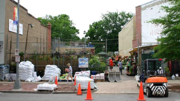 The Frager's garden center, shown here at its original location on Pennsylvania Avenue SE, will move to Eastern Market as the hardware store rebuilds.