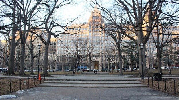 Franklin Park occupies five acres of land in downtown D.C., but it's rundown and underused.