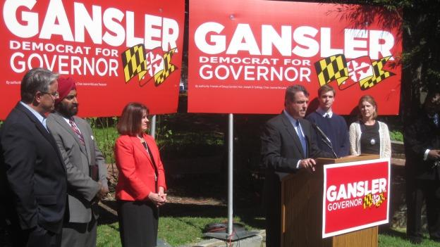 Maryland Attorney General Doug Gansler is campaigning as an outsider candidate.