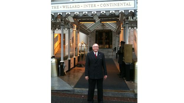 Steve Blum is the Uniform Services Director of the Willard Intercontinental Hotel.