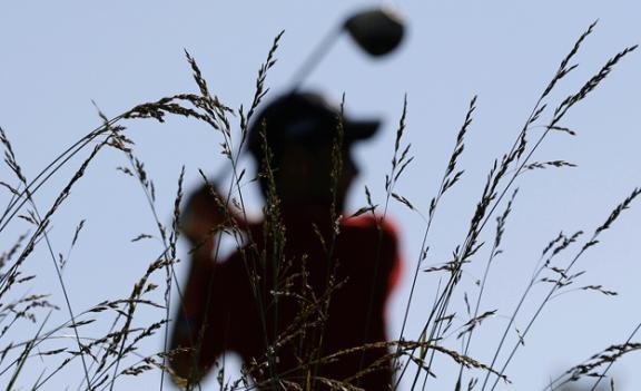 Australia's Brady Watt tees off in Bethesda during the Quicken Loans National PGA golf tournament.