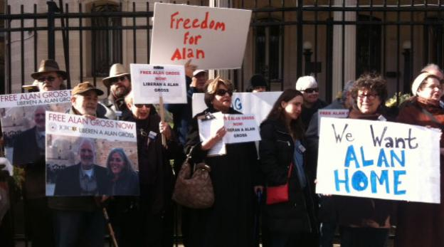 Alan Gross supporters rally in Washington D.C. to ask Cuba to release the 62-year-old Potomac, Md. contractor,