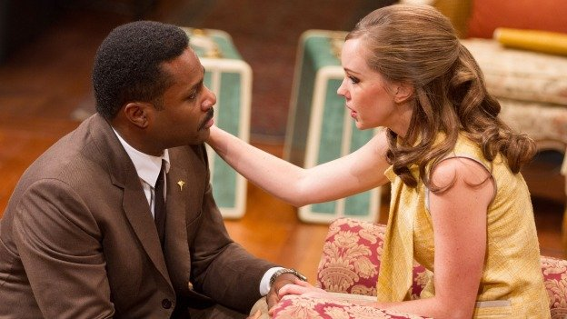 Malcolm-Jamal Warner and Bethany Anne Lind play an interracial couple facing homegrown adversity in Guess Who's Coming to Dinner.
