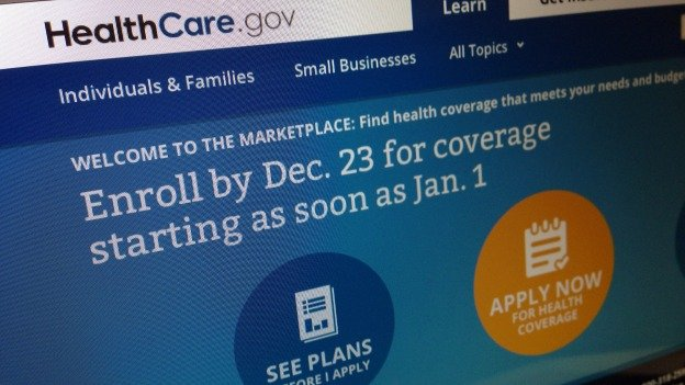 This Dec. 20, 2013, image shows part of the HealthCare.gov website in Washington, that notes to enroll by Dec. 23 for coverage starting as soon as Jan. 1, 2014. Policies will soon take effect in new health insurance markets that have been trying to enroll customers.