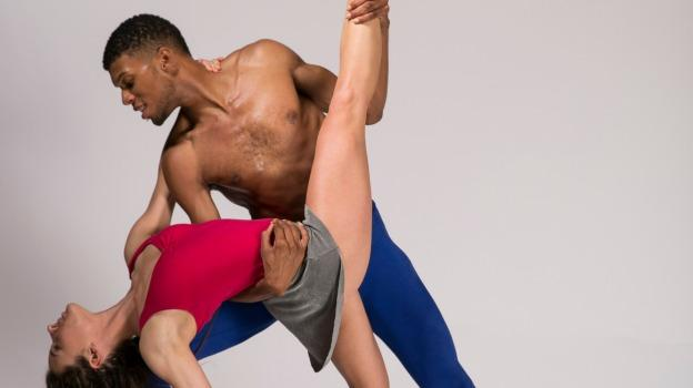Dancers Catherine Roth and Tyrone Walker perform in MOVEiUS Contemporary Ballet's Locally Grown.