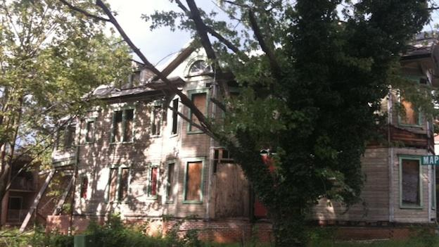"""""""Demolition by neglect"""": one of the houses in historic Anacostia in Southeast D.C."""