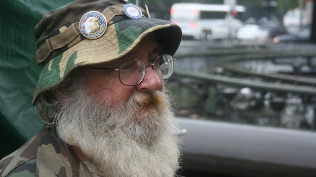 Homeless war veteran Forest Bibby lost touch with his family after returning from Vietnam.