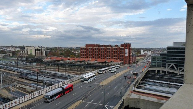 The Hopscotch Bridge connects H Street NE to North Capitol Street while crossing over Amtrak tracks behind Union Station. D.C. officials say it will have to replaced within five years.