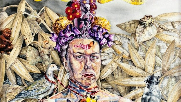 """""""Freeing the Frieda in Me"""" (2003) is just one of the imaginative self-portraits by Holly Trostle Brigham you can expect to see in DIS/GUISE."""
