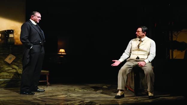 "Richard Schiff (right), of ""West Wing"" fame, makes his Shakespeare Theatre Company main stage debut in Hughie."