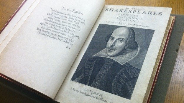 This First Folio is among the 82 copies owned by the Folger Shakespeare Library.