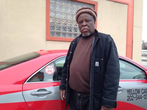 Jesse Black, 62, outside Yellow Cab offices in Northeast D.C. He says he was written up by Officer Thomas Krmenec for having a dirty cab shortly after coming from a car wash.