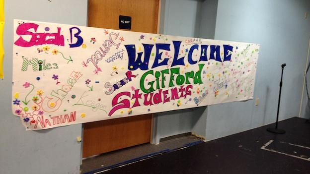 A welcome the Capital City students made for the Gifford students.