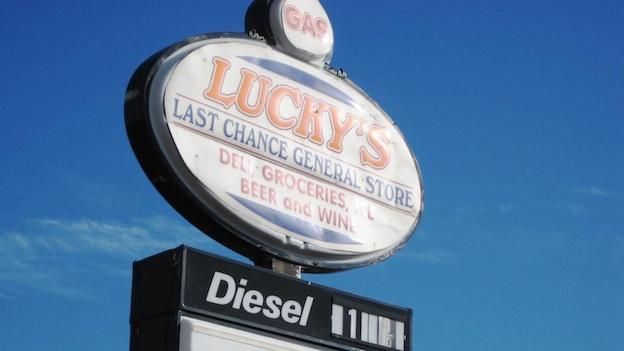 Margaret Palau, owner of Lucky's Last Chance General Store, says some customers stop by four to five times a day.